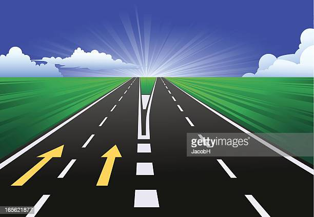 on the road - dividing line road marking stock illustrations, clip art, cartoons, & icons