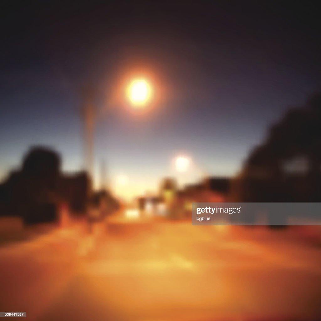 On the Street at Night : stock illustration