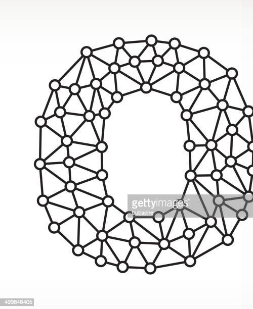 O on triangular node royaltfree vecotr graphic