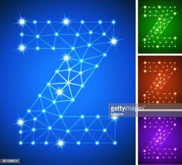 stockillustraties, clipart, cartoons en iconen met z on triangular nodes connection structure vector art - generation z
