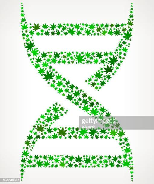 dna on weed royalty free vector art pattern - icon collage stock illustrations