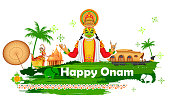 Onam background showing culture of Kerala