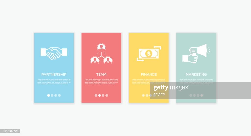 Onboarding Business Plan Screens. : stock illustration