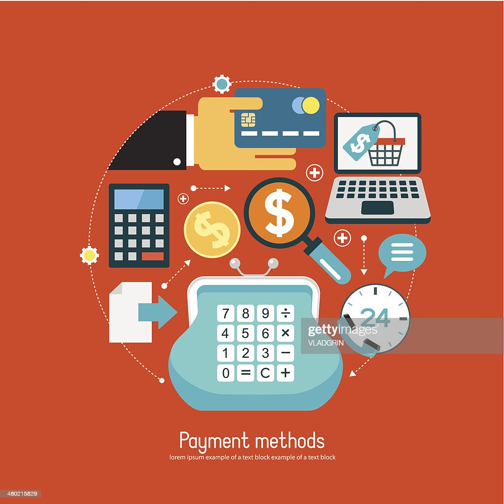 Oncept Ecommerce With Set Payment Methods Icons Vector Art Getty E Commerce Block Diagram