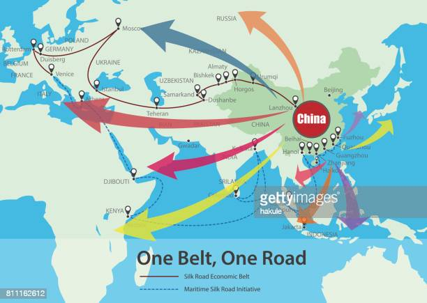 One Belt, One Road, Chinese strategic investment in the 21st century map