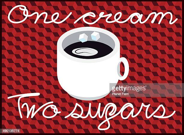 one cream two sugars - sugar cube stock illustrations, clip art, cartoons, & icons