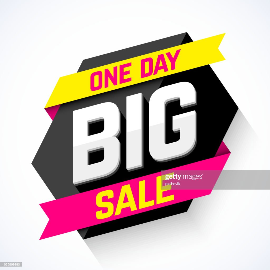 One Day Big Sale banner