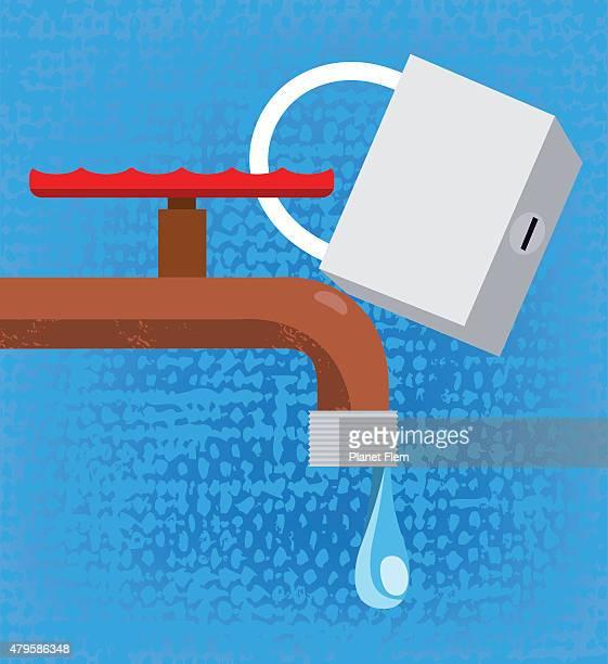 one drop - dehydration stock illustrations, clip art, cartoons, & icons