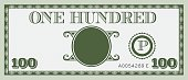 One hundred money bill image. With space to add your text