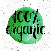 One hundred percent organic natural label.
