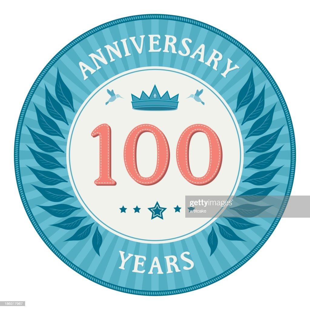 One Hundred Years Anniversary Badge