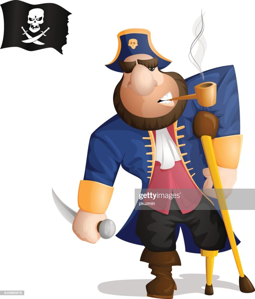 A One legged pirate standing