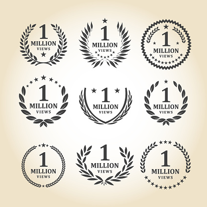 One Million Views Emblem set - gettyimageskorea