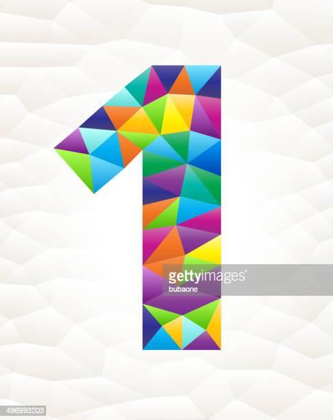 one on triangular pattern mosaic royalty free vector art - free mosaic patterns stock illustrations