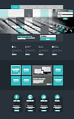 One page website design template,