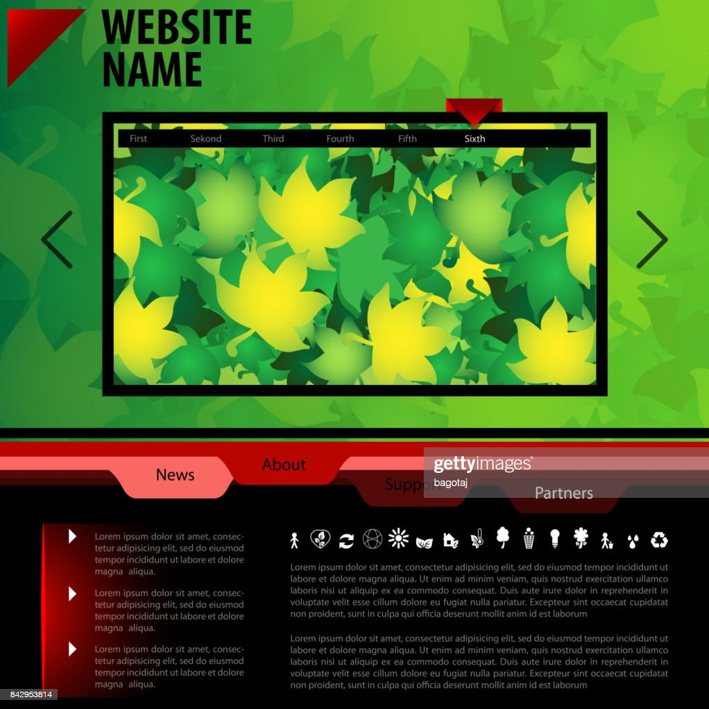 One Page Website Template - Autumn