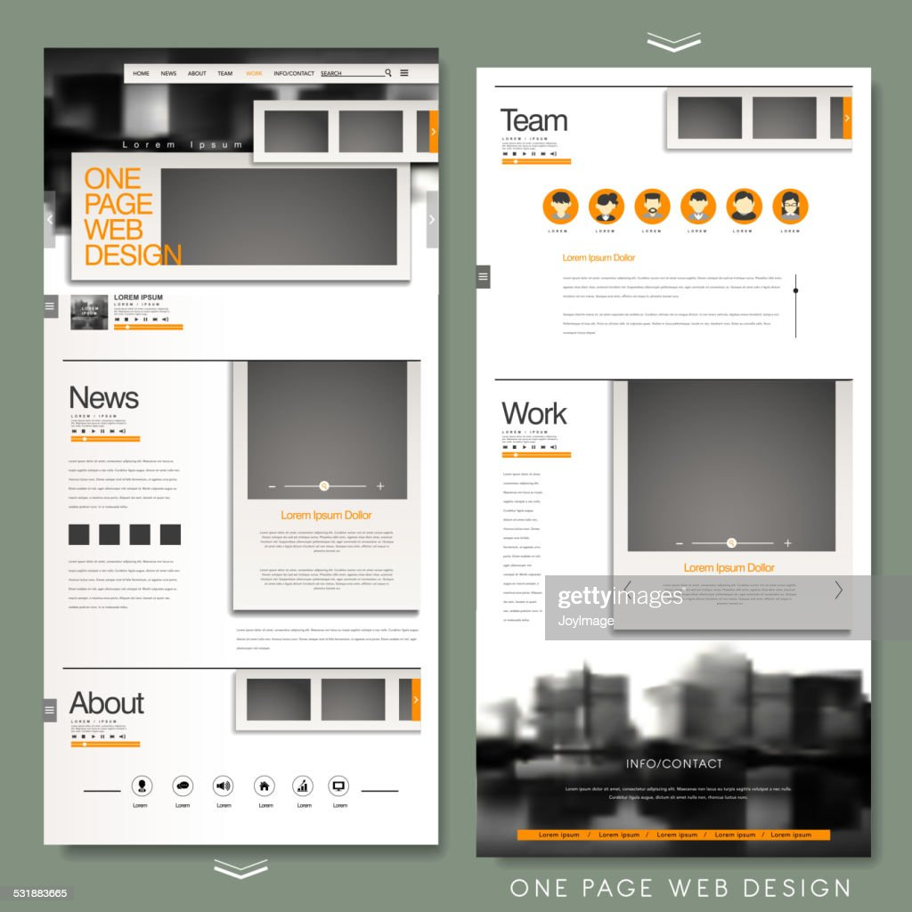 one page website template design
