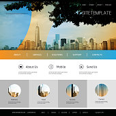 One Page Website Template - Global Business