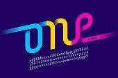 One single line font