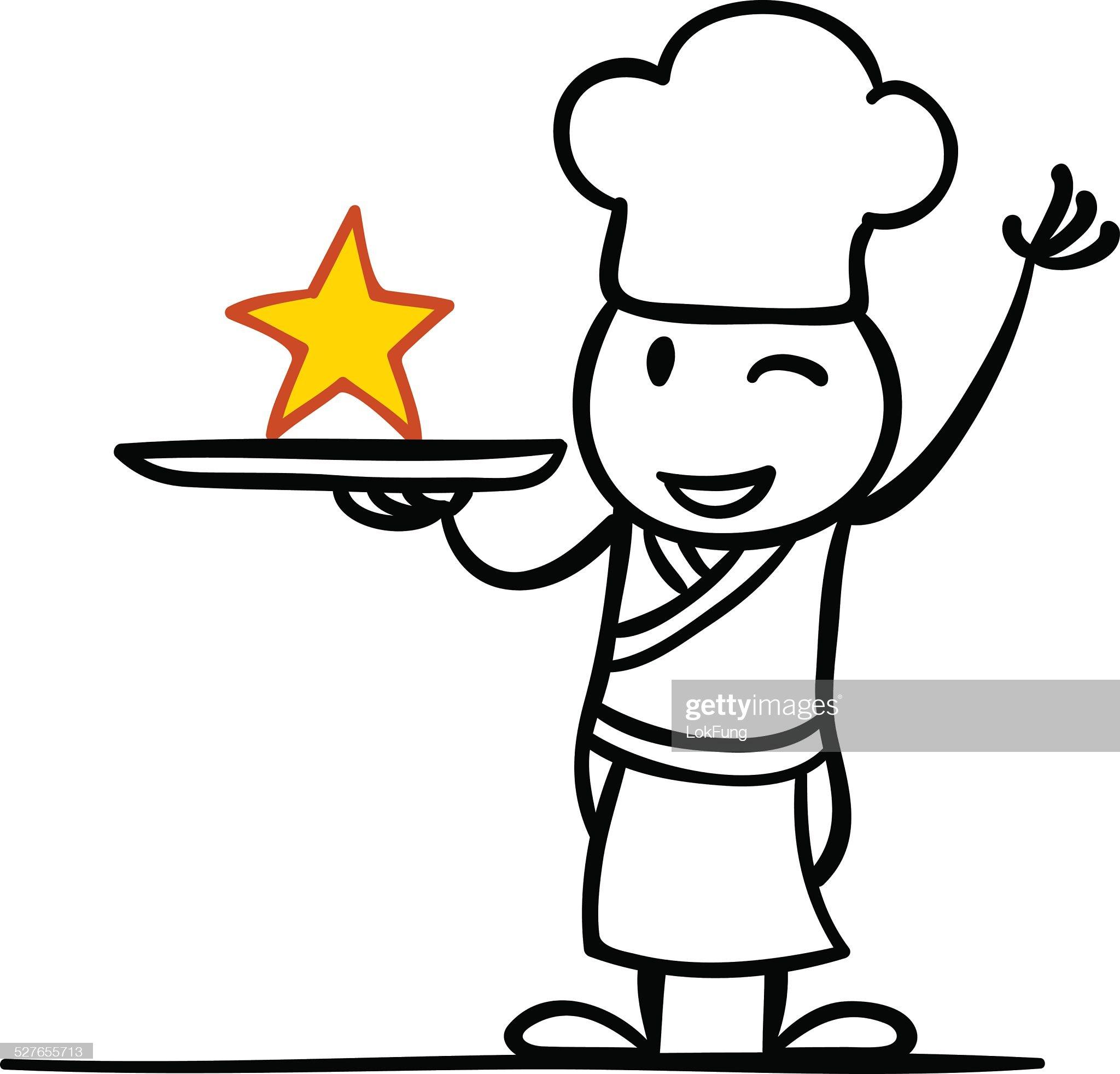 Una Star chef : Illustrazione stock