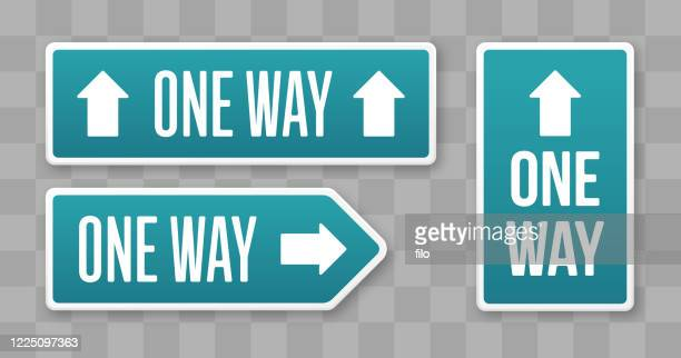 one way one direction signs - one direction stock illustrations