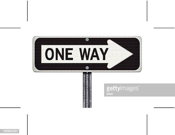 one way road sign - one direction stock illustrations