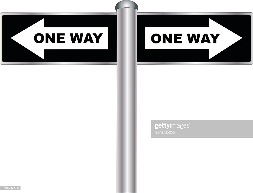 One Way Sign Vector Art Getty Images