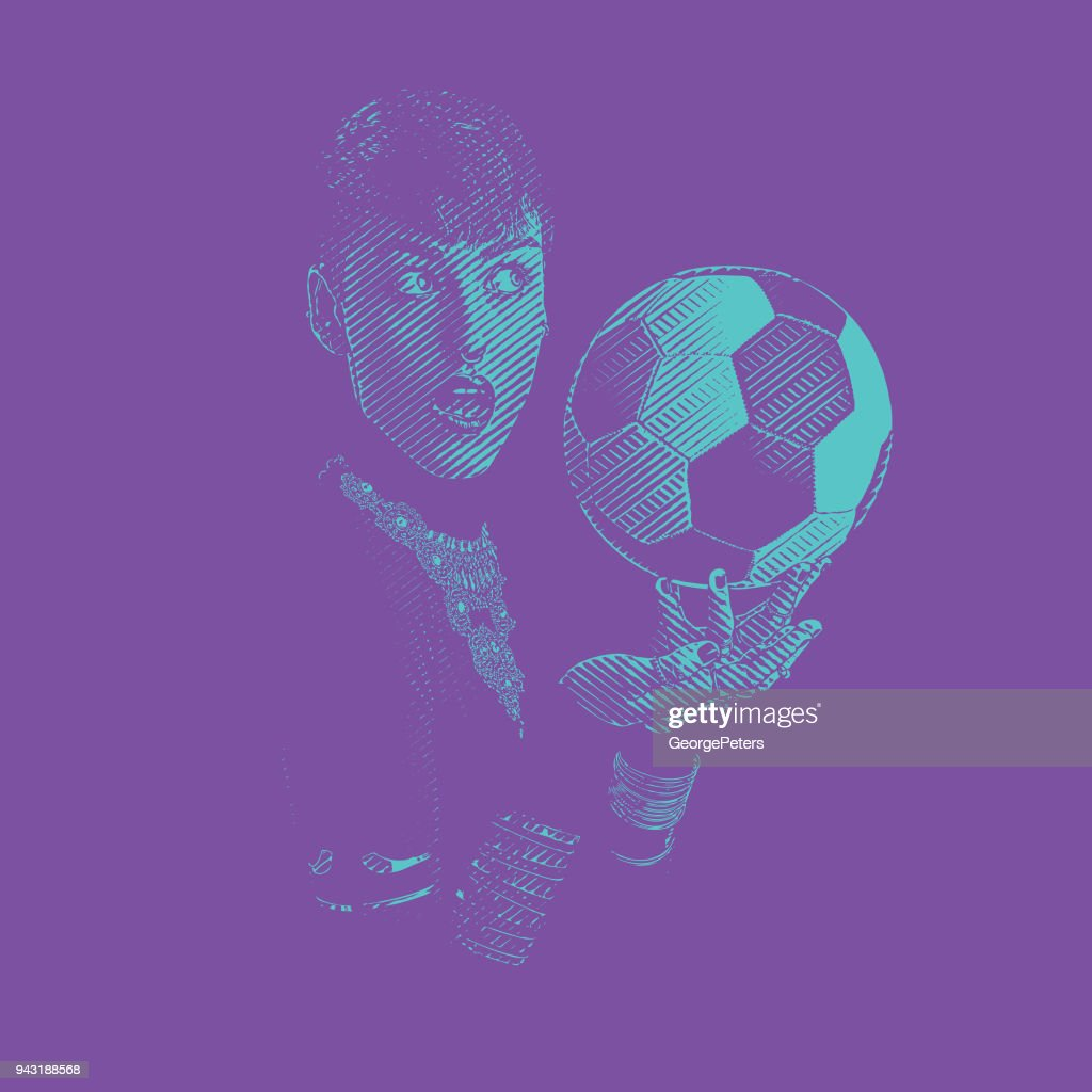 One woman soccer fan with surprised facial expression : stock illustration