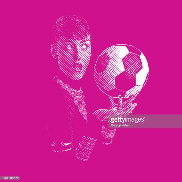 one woman soccer fan with surprised facial expression - bisexuality stock illustrations, clip art, cartoons, & icons