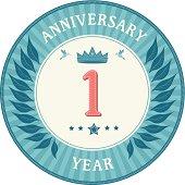 One Year Anniversary Badge