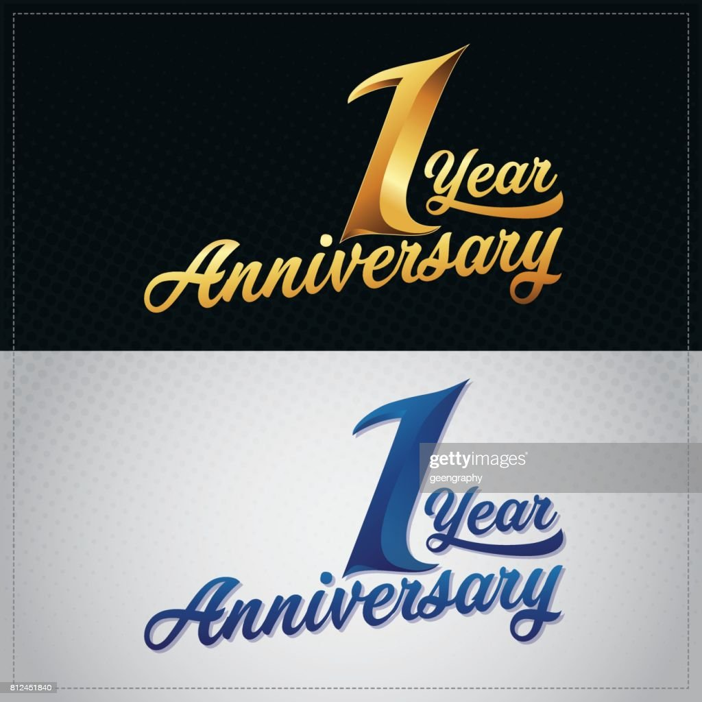 one year anniversary celebration logotype 1st anniversary logo high res vector graphic getty images one year anniversary celebration logotype 1st anniversary logo high res vector graphic getty images