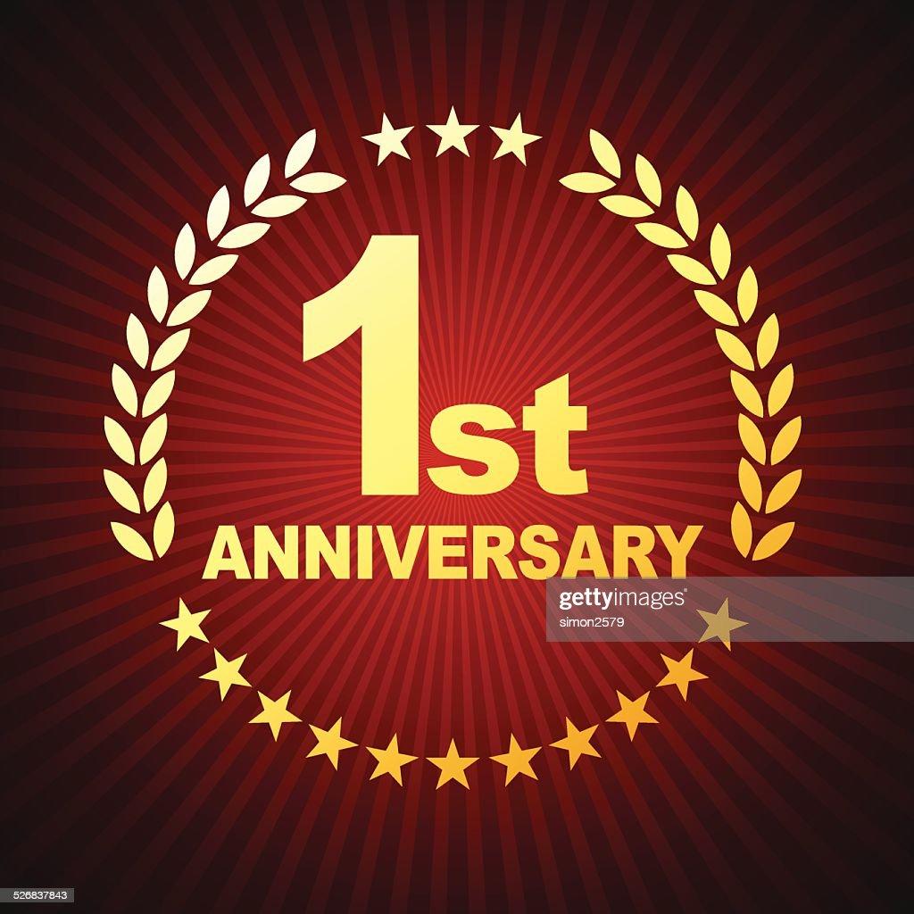 one year anniversary emblem