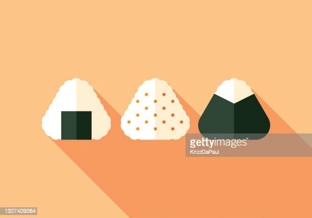 onigiri - rice ball stock illustrations