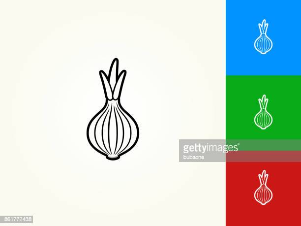 onion black stroke linear icon - onion stock illustrations, clip art, cartoons, & icons