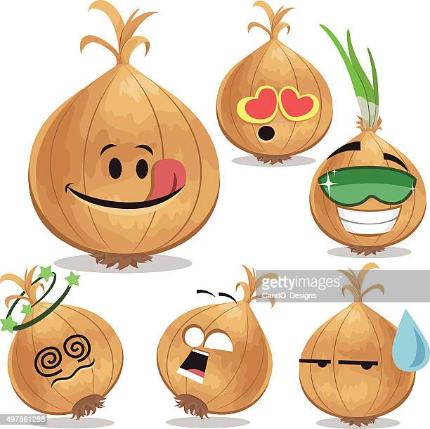 Onion Cartoon Set A