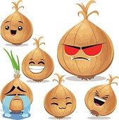 Onion Cartoon Set B