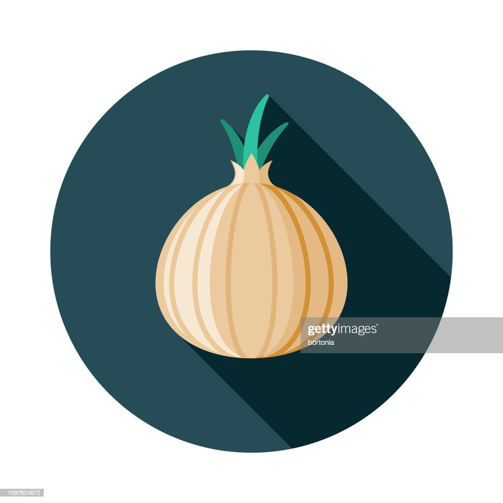 Onion Vegetarian Icon stock illustration - Getty Images