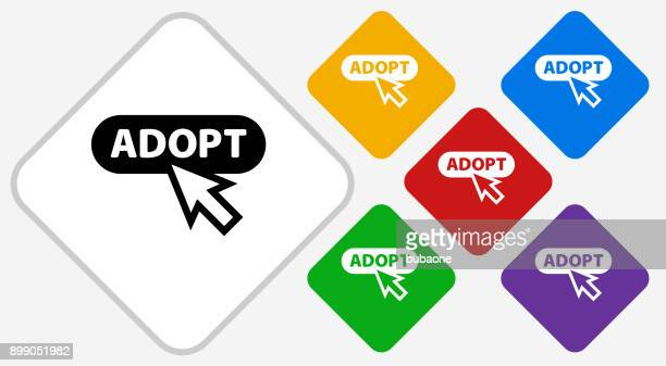 Online Adoption Color Diamond Vector Icon