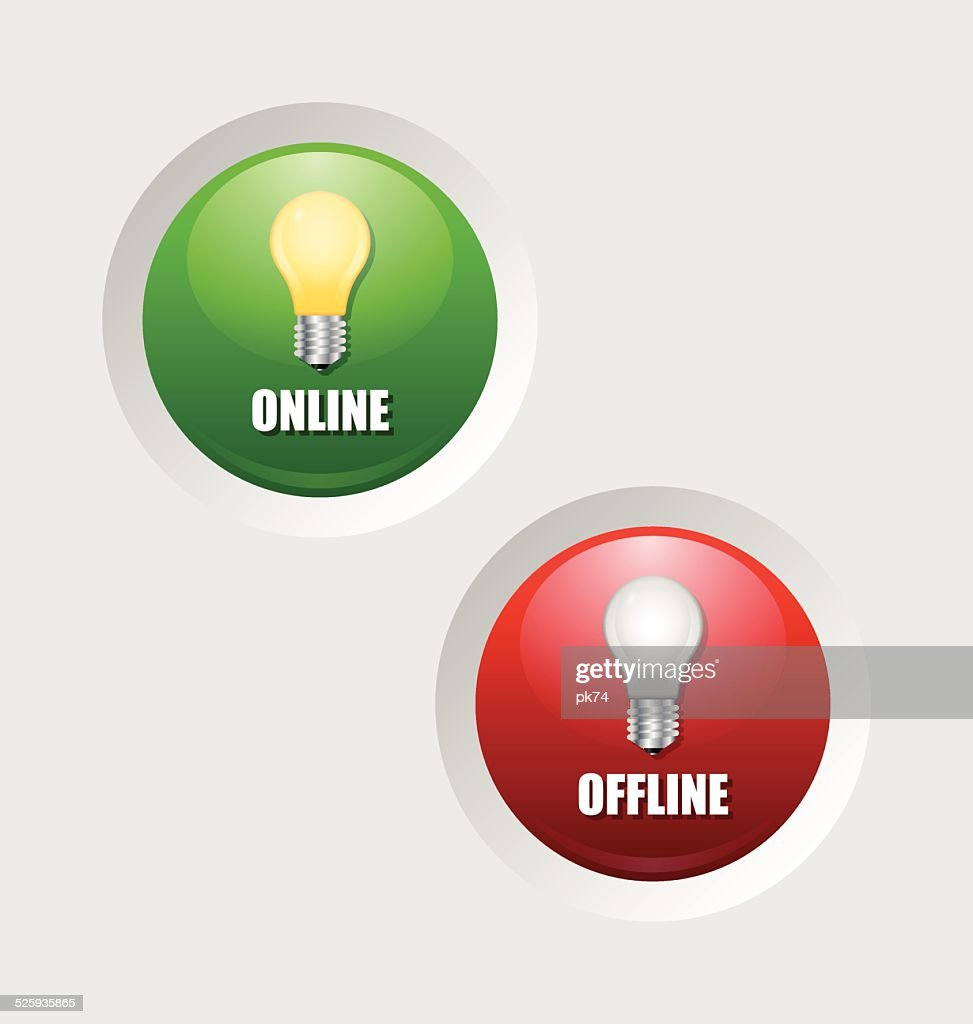 Online and offline icons