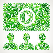 Online Audience Nature and Environmental Conservation Icon Pattern