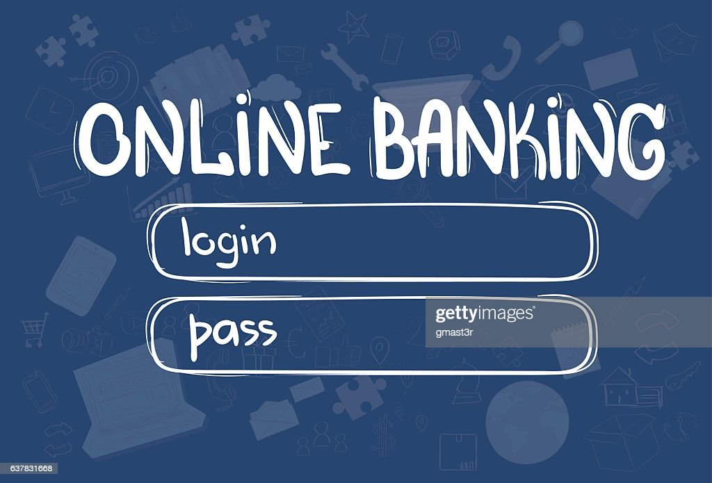 online banking application interface concept doodle hand draw sketch