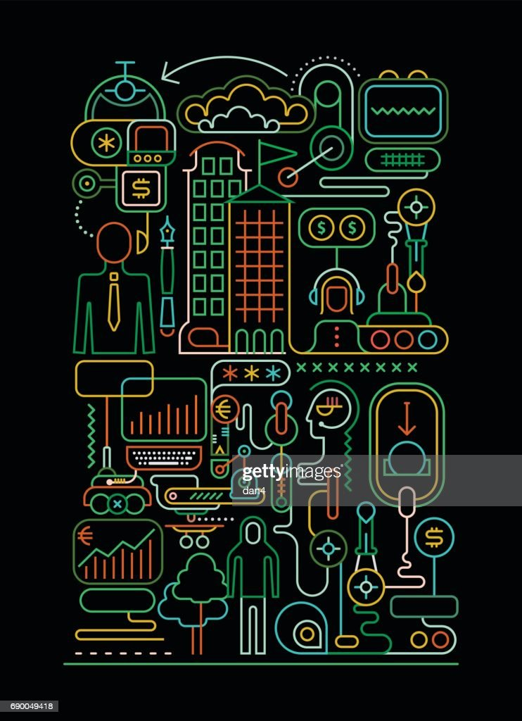 On-line Banking illustration