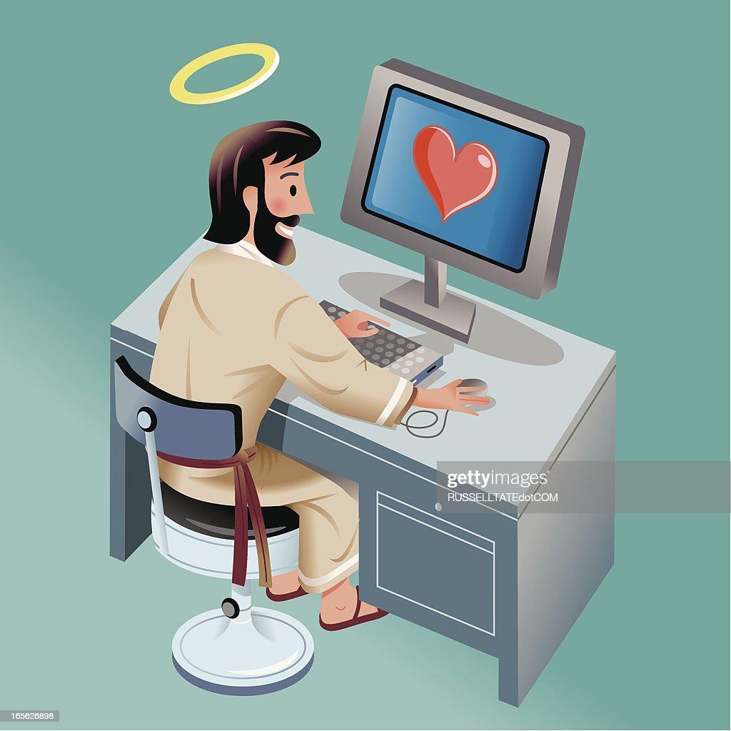 Online Blessings : stock illustration