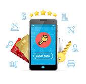 Online Booking Concept. Vector
