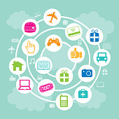 Online Business Icons - Vector Illustration