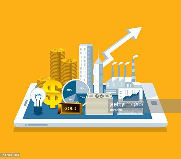 ilustrações, clipart, desenhos animados e ícones de negócio on-line - submita busca