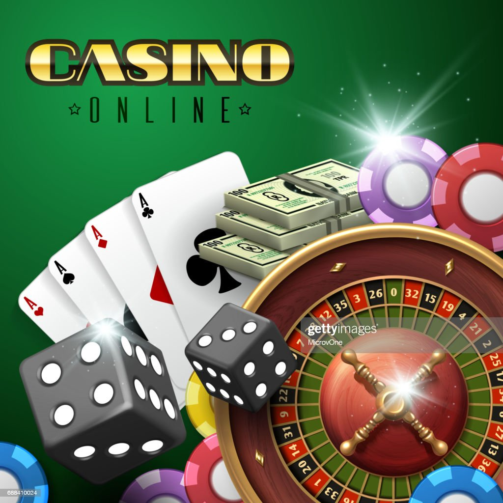 https://media.gettyimages.com/vectors/online-casino-gambling-vector-background-with-roulette-dice-and-poker-vector-id688410024