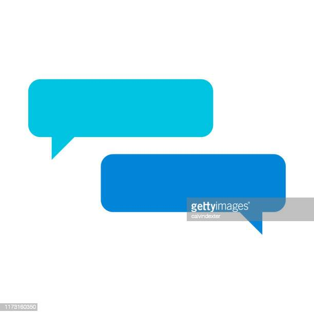 online chat design - thought bubble stock illustrations