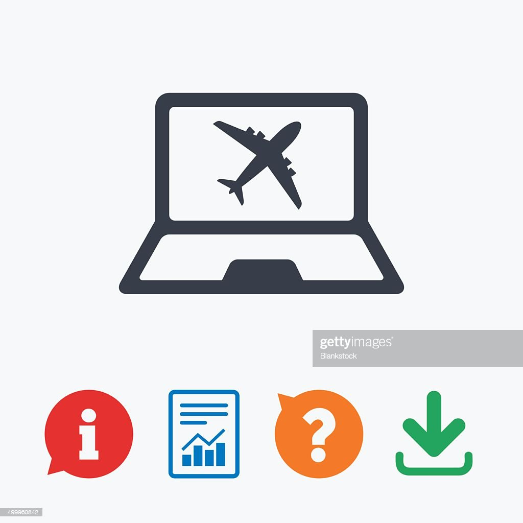 Online Checkin Sign Airplane Symbol Travel Vector Art Getty Images
