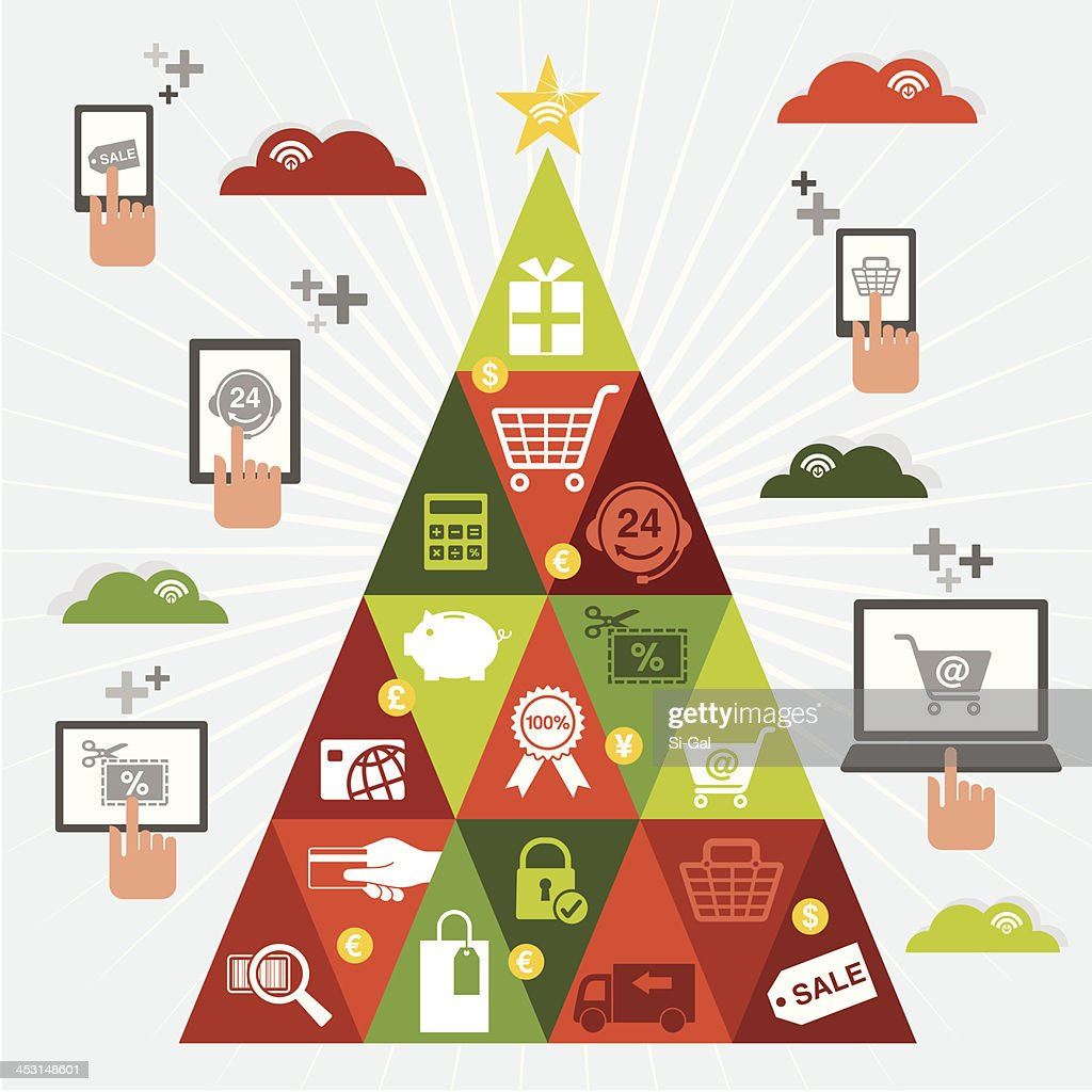 Online Christmas Shopping Tree
